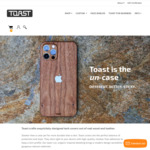 15% off Toast Real Wood Laptop, Phone, and Console Skins @ ToastMade