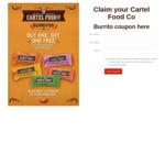 Buy 1 Burrito, Get 1 Burrito Free @ Cartel Food Burritos