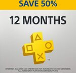 12 Month PlayStation Plus Subscription $44.95 (Normally $89.90) @ PlayStation Store (New Subscribers Only)