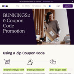 $20 off Zip Purchase over $100 (Instore Only) @ Bunnings