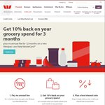 Westpac Low Rate MasterCard 10% Back on Your Grocery for 3 Months