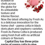Win 1 of 3 Fresh As Panna Cotta Prize Packs from The Dominion Post