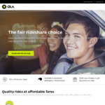 5 Free Rides (Max $15 per Ride) @ Ola Cabs (New Users)