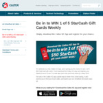 Win 1 of 5 $50 Caltex StarCash Gift Cards Weekly from Z Energy