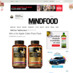 Win 1 of 4 Go Healthy Apple Cider Vinegar Prize Packs (Worth $75) from Mindfood