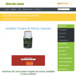 Tongkat Ali 60 Capsules for $65 a Bottle + Shipping @ Herbal New Zealand
