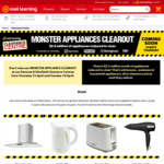 Home Appliance Clearance: Kettle $9, Toaster $9, Hair Dryer $5 + More @ Noel Leeming (Penrose & Glenfield Clearance Centres)