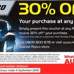 30% off @ Repco (Sunday 4th of Sept Only) One Day Sale