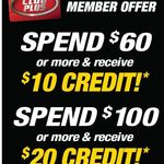 Spend $60 & Receive $10 Credit, Spend $100 & Receive $20 Credit at SuperCheapAuto
