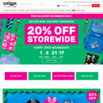 Smiggle 20% off Storewide Online Only