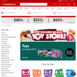Buy One Get One Half Price Toys |  Get $10 off $100, $25 off $200, $45 off $300 @ The Warehouse