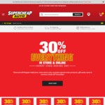 30% off RRP in-Store/Sitewide @ Supercheap Auto