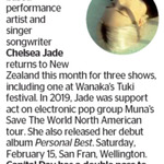 Win a Double Pass to Chelsea Jade from The Dominion Post (Wellington)