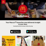 Free McDonald's Delivery via Uber Eats with Min $30 Spend