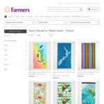 Beach Towels 80% off, $10 down from $50 + Shipping @ Farmers