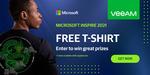 Free T Shirt @ Veeam (Microsoft Inspire Event) Needs Business Email