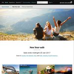 Air New Zealand - New Year Sale (Australia, Islands, Asia,  North & South America)