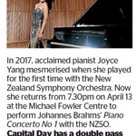 Win a Double Pass to Joyce Yang from The Dominion Post (Wellington)