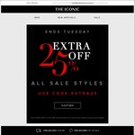 The Iconic Boxing Day Sale.  Extra 25% off