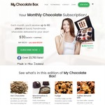 $10 off Your First My Chocolate Box Order (~80 Handmade Chocolates) - $30 + $5 Shipping Monthly Cost