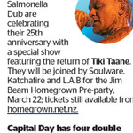 Win 1 of 4 Double Passes to Salmonella Dub from The Dominion Post (Wellington)