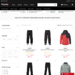 50% off Torpedo7 Branded Snow Jackets and Pants @ Torpedo7