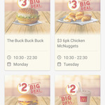 Cheeseburger $2 via App (Available from 10:30 to 22:30) @ McDonald's