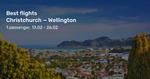 Christchurch to Wellington from $56 Return on Jetstar via BeatThatFlight (Feb)
