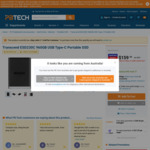 Transcend 960GB USB Type-C Portable SSD $159 @ Pbtech