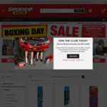 SuperCheap Auto Boxing Day 30% off Selected Products, Additional 5% off for ClubPlus Members for Orders Placed on Christmas Eve
