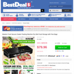 Maxkon Food Vacuum Sealer Packing Machine with Free Bags, 73% off $79.96 (Was $299.95) + Delivery @ Best Deals