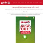 Win Fries and Combo Upsizes with Wendy's Ghost Pepper Game