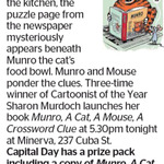 Win a copy of Munro, A Cat, A Mouse, A Crossword Clue from The Dominion Post