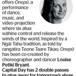 Win 1 of 2 Double Passes to Onepu from The Dominion Post (Wellington)