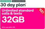 30 Day Unlimited Calls & Texts + 32GB $4.90 for First Month @ Kogan Mobile