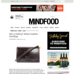 Win a Kathryn Wilson Sasha Fierce Leather Handbag (Worth $299) from Mindfood