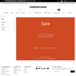 50% off All Sale Items (Free Postage with $50+ Spend) @ Country Road