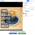 $2 Coffees All Week from Pillars Cafe (Christchurch)