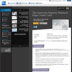 FREE AmEx Platinum Edge Credit Card for First Year (with Free Domestic Return Flight)