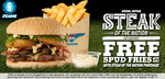 Free Spud Fries with The Steak of The Nation Burger $16.90 @ BurgerFuel