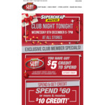 Free $5 Credit for Club Plus Members @ Supercheap Auto
