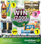 L&P 1.5L or Fresh up 1L $1, Edam/Colby 1KG $7.90 + More @ Countdown