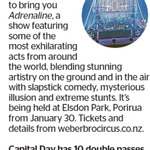 Win 1 of 10 Double Passes to Weber Bros Circus from The Dominion Post