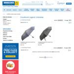 Cloudburst Legend Auto Open/Close Umbrella Navy/Black $8 Delivered at Briscoes