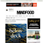 Win 1 of 8 copies of Below Deck by Sophie Hardcastle from Mindfood