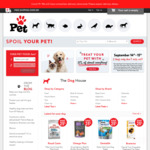 25% off Almost Everything and Free Shipping over $39 @ Pet.co.nz