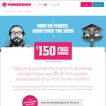 $150 Free Power When You Switch to Powershop