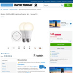 Harvey Norman: Belkin WeMo LED Lighting Starter Set - Screw Fit $48 Delivered