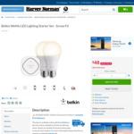 Harvey Norman: Belkin WeMo LED Lighting Starter Set - Screw Fit $48 Delivered