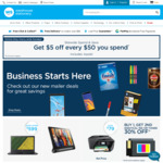 $5 off every $50 spent @ Warehouse Stationery